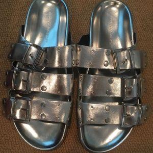 Rebecca Minkoff Silver Sandals